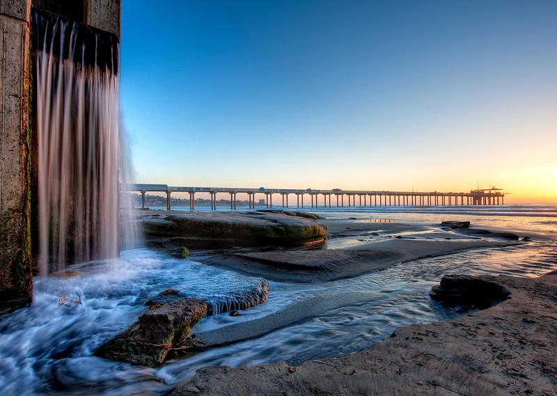 La-Jolla-Waterfall-Sunset