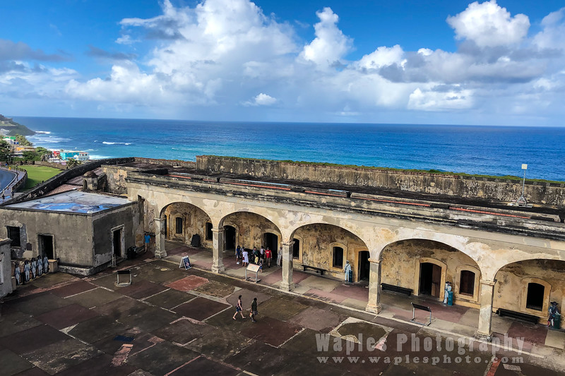 Fort Arcade and Atlantic Ocean