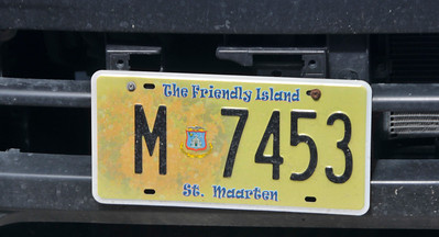 I like to take photos of license plates on the islands we visited.