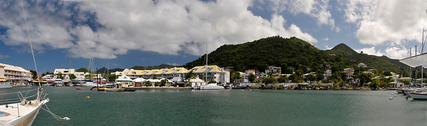 This is a panorama shot of the area where we boarded the boat for our cruise on the lagoon.  I made this photo by taking three shots of the harbor and stitching them together.  This is about a 130 degree shot.