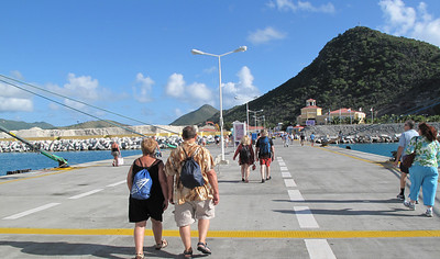 As we leave the ship, we are in St. Philipsburg, St. Maarten-the Dutch side.