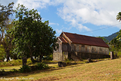 A building next to St. Thomas Church, St. Kitts