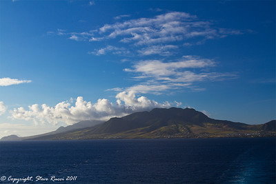 Sailing away from St. Kitts