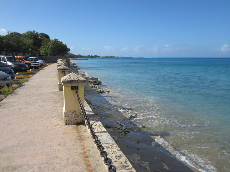 St. Croix.  We later bike out to the farthest point of land you see from here, then return to Frederiksted & go north.