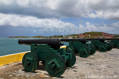 Cannons at Fort Christiansvaern - St. Croix, Virgin Islands