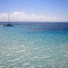 "The indistinct outline of Montserrat is in the distance.  2/3 of Montserrat's population was forced to flee when the island's volcano became active in 1995.  <br /> <a href=""http://en.wikipedia.org/wiki/Montserrat"">http://en.wikipedia.org/wiki/Montserrat</a>"