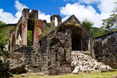 Old sugar mill ruins on St. Kitts