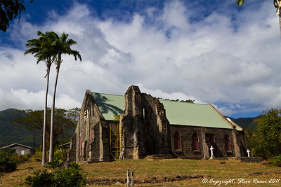 St. Thomas Church on St. Kitts.  The graveyard contains the remains of Sir Thomas Warner (first governor of St. Kitts), as well as Samuel Jefferson II (Great Great Great Grandfather of Thomas Jefferson)