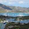 English Harbor seen from Shirley Heights, Antigua.