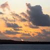Approaching St. Croix at sunrise.