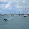 They're coming to ferry us out to the yacht in Marigot Bay.  Or not.