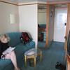 Looking back toward the entry.  Bathroom is behind the mirror.