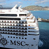 MSC Poesia docking in St. Maarten.