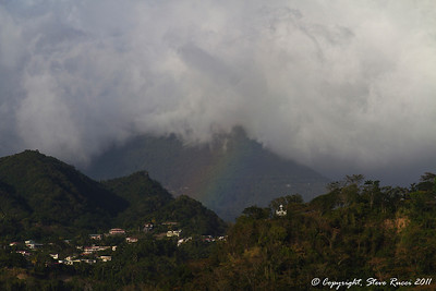 Rainbow in the distance, near Roseau, Dominica.