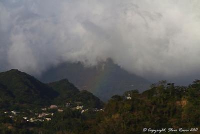 Rainbow in the distance, near Roseau, Dominica.