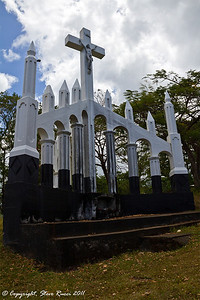 A Christian monument overlooking Roseau, Dominica