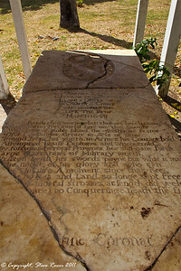 Gravestone of Sir Thomas Warner (first governor of St. Kitts)