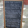 Price list at the Admiral's Inn.  Prices look to be extreme, but we discovered later that the price in U.S. dollars is about 40% of what is listed.  Euros, maybe?  The confusing part is the use of a dollar sign.