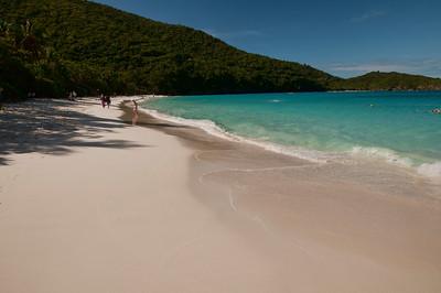 Beautiful Trunk Bay beach on St. John.