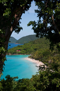 Trunk Bay from the top of the hill