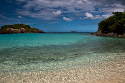 Clear water in Trunk Bay.