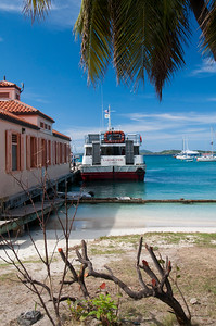 The ferry boat dock on St. John