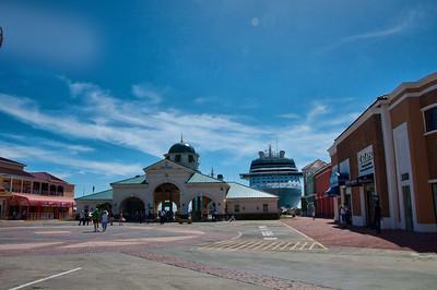 The cruise port built in St. Kitts.