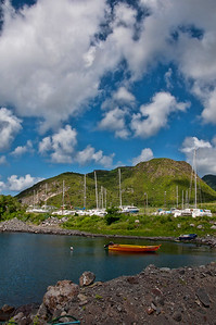 A look from a distance at the fort at the top of the mountain on St. Kitts.