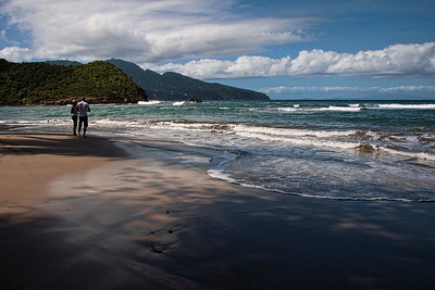 We arrive at the secluded beach where we will spend an hour or more.