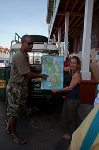 In Roseau we meet Woody and his assistant who will be taking us on a tour of the island.