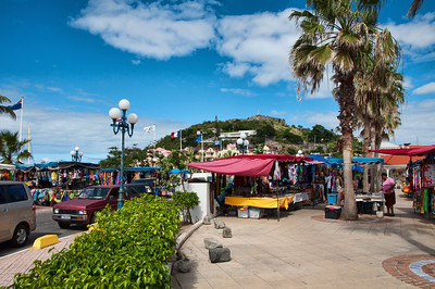 A view of the open market in Marigot.