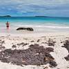 Beautiful blue water off Orient Beach, St. Maarten.