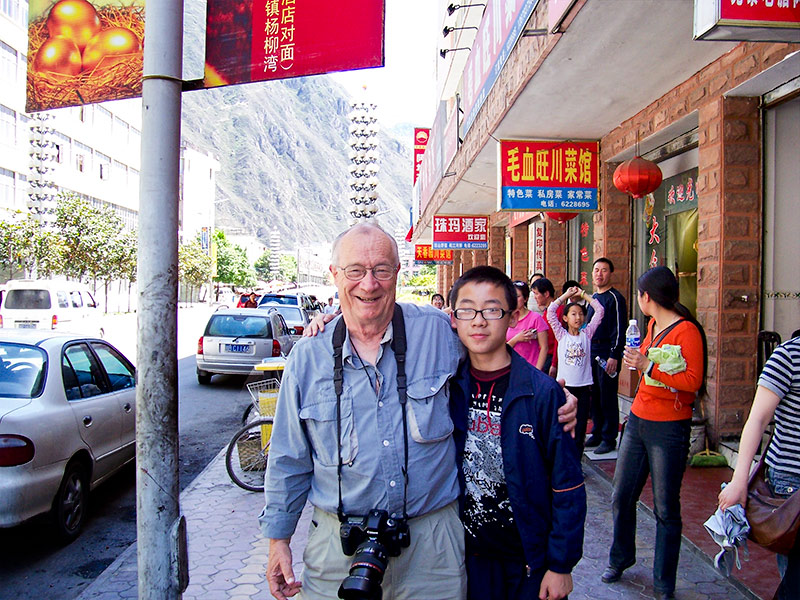 Me with Zhang Junzhe, my 13 yr old friend from Mianyang Middle School #7 in Sichuan, China.