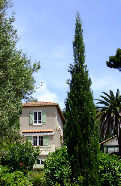 There were many beautiful homes on the hillsides overlooking the Port of Cassis.
