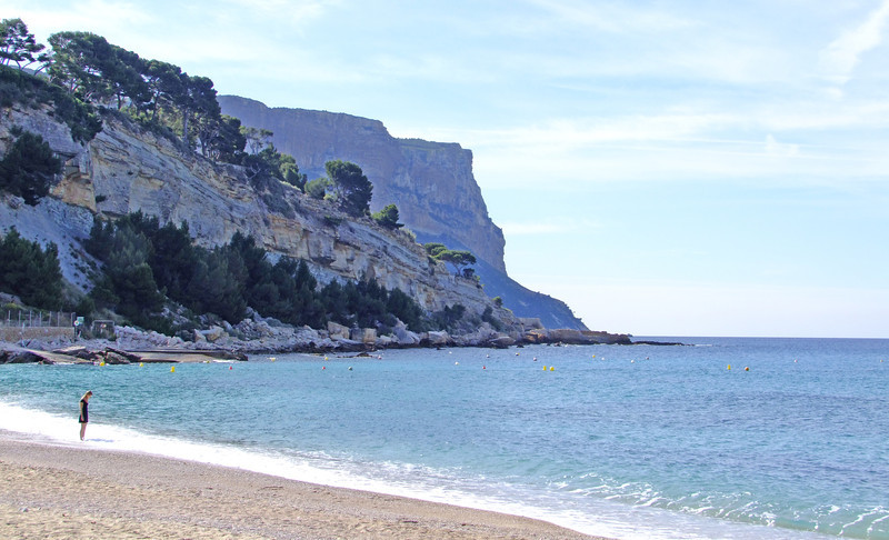 Southern French coast at city of Cassis - near Marseille.
