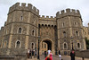 Visitors exit from Windsor Castle.