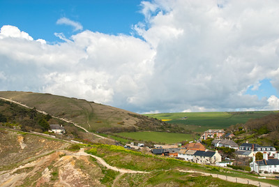 The South Coast Path at Lulworth Cove