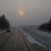 Tartu maantee road toward Elva. Soggy evening view.