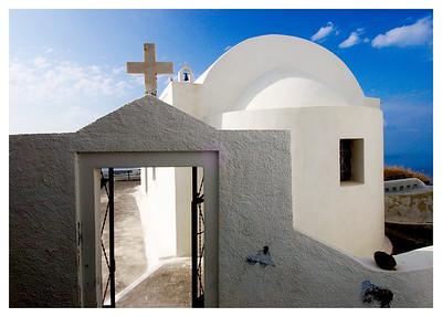 Sidehill Church- Santorini, Greece