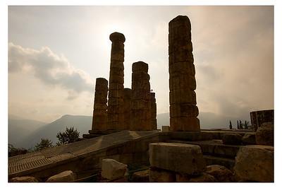 Delphi Columns- Delphi, Greece