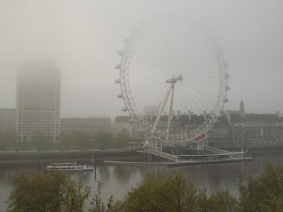 London Fog--the Eye--from the Royal Horseguards Hotel in Whitehall