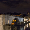 At the end of our cruise down the river,  we arrived at these beautiful structures in Avignon at night.