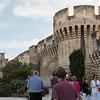 The city walls of Avignon are impressive