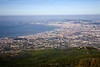 View of Naples and the Bay of Naples from Mount Vesuvius.