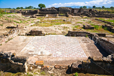 The floor of an excavated building