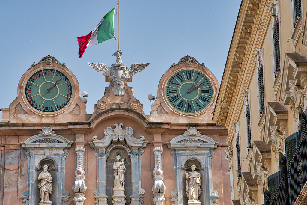 Trapani's Town Hall Clocks