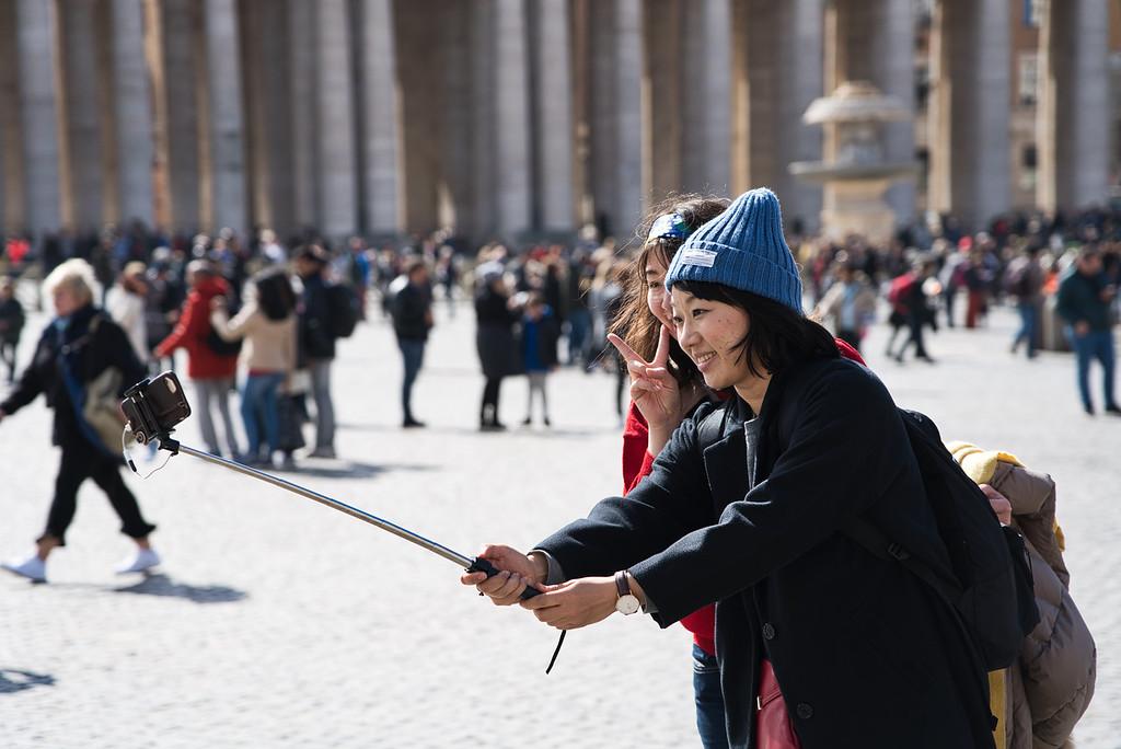 St. Peter's Square Selfie