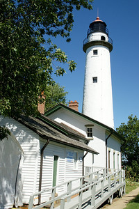 Pointe Aux Barques Lighthouse along Lake Huron near Port Hope, Michigan