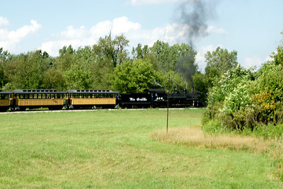Huckleberry Railroad at Crossroads Villiage in Flint, Michigan