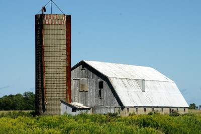 Barn and silo near Port Austin, Michigan